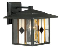 """Abbey 1-Light 9.5"""" Oil Rubbed Bronze Outdoor Wall Light"""