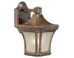 "Monticello 1-Light 11"" Bronze Walnut Outdoor Wall Light"