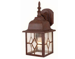 "Lawrence 1-Light 15.5"" Rustic Brown Outdoor Wall Light"