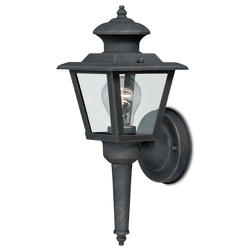 "Colonial II 1-Light 13.375"" Bronze Outdoor Wall Light"
