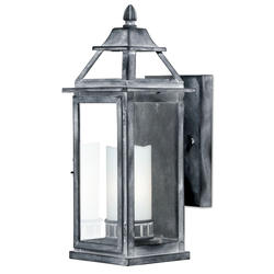 "Destin 1-Light 14.75"" Old Iron Outdoor Wall Light"