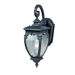 "Eliana 1-Light 19.25"" Textured Black Outdoor Wall Light"
