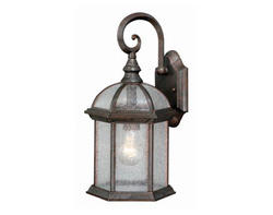 "Manor 1-Light 16"" Royal Bronze Outdoor Wall Light"
