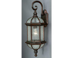 "Manor 1-Light 21"" Royal Bronze Outdoor Wall Light"
