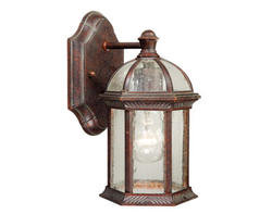 "Manor 1-Light 10"" Royal Bronze Outdoor Wall Light"