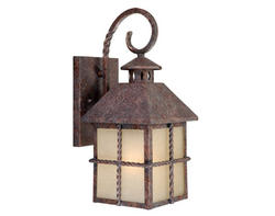 "Dayton 1-Light 14"" Iron Patina Outdoor Wall Light"
