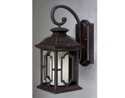 "Madison 1-Light 16.5"" Noble Bronze Outdoor Wall Light"
