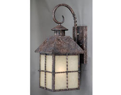 "Dayton 1-Light 18.75"" Iron Patina Outdoor Wall Light"