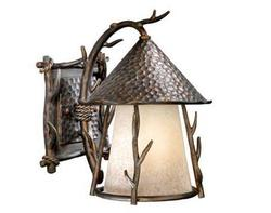 "Aspen 1-Light 12"" Autumn Patina Outdoor Wall Light"