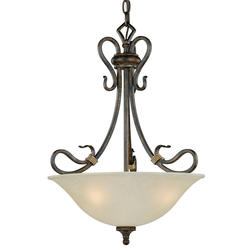 "Berkeley 3-Light 18"" Aged Walnut Pendant"