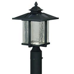 """Paradox 6-Light 15-5/8"""" Textured Black Solar Outdoor Post Light"""