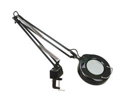 "Apollo 1-Light 52.375"" Black Magnifier Table Lamp"