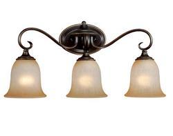 "Mavis 3-Light 23"" Oil Brushed Bronze with Gold Accent Vanity Light"
