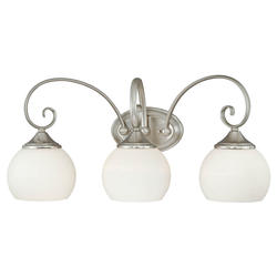 "Danica 3-Light 25"" Satin Nickel Vanity Light"