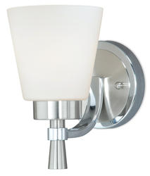 "Griffin 1-Light 4.75"" Satin Nickel with Chrome Wall Lantern Light"