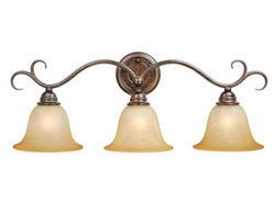 "Savanah 3-Light 24.75"" Royal Bronze Vanity Light"