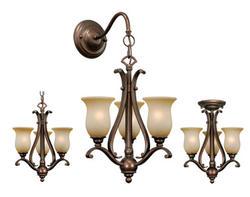 "Verona 3-Light 11"" Royal Bronze Tri-Mount Light"