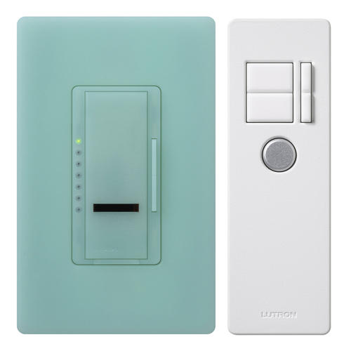 lutron maestro ir 600 watt single pole dimmer with ir remote control at menards. Black Bedroom Furniture Sets. Home Design Ideas
