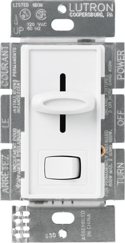 lutron skylark white 1 5 amp single pole fan control with light. Black Bedroom Furniture Sets. Home Design Ideas