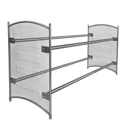 Mesh-Sided Expandable/Stackable Shoe Rack