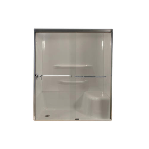 Lyons 60 Quot W X 72 Quot H Glass Bypass Shower Door At Menards 174