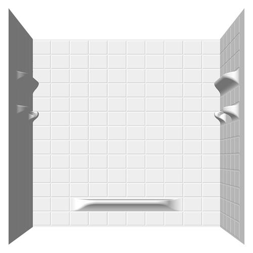 Lyons Palm Springs Tile Sectional Bathtub Wall Kit At Menards