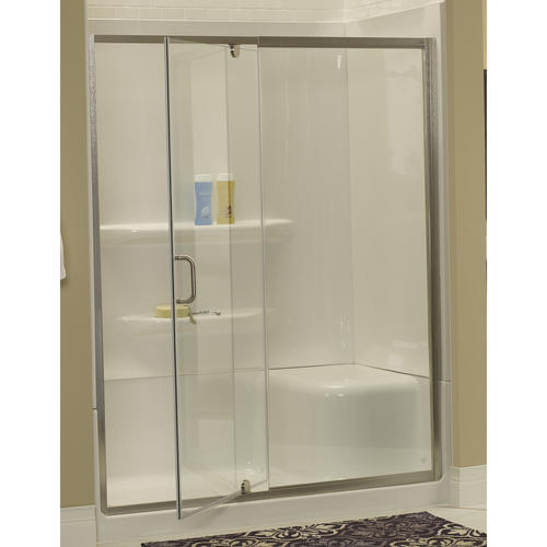 Lyons 60 Quot W X 72 Quot H Glass Pivot Shower Door At Menards 174