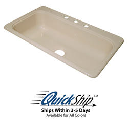 "Lyons 33"" x 19"" x 7-1/4"" SB-Style Sink 3-Hole with 3-1/2"" Drain"