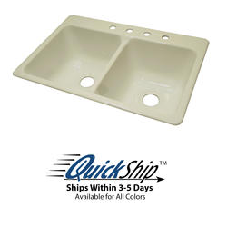"Lyons 33"" x 22"" x 10"" Cafe Sink with 3-1/2"" Drain"