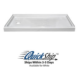 "Lyons Elite™ 54"" x 27"" x 4"" Shower Base (Left Hand Drain)"