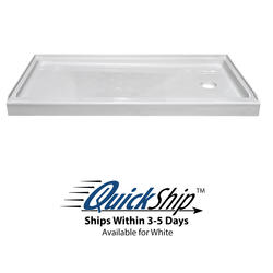 "Lyons Elite™ 54"" x 27"" x 4"" Shower Base (Right Hand Drain)"