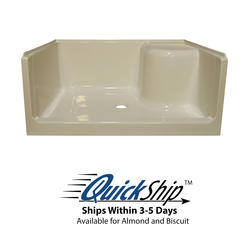 """Lyons Elite™ 48"""" x 34"""" x 19"""" Right Hand Seated Shower Base"""