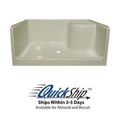 "Lyons Elite™ 48"" x 34"" x 19"" Right Hand Seated Shower Base"