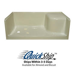 "Lyons Elite™ 60"" x 32"" x 19"" Right Hand Seated Shower Base (Left Hand Drain)"