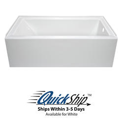 "Lyons Linear™ 60"" x 30"" x 16.5"" Right Hand Drain Bathtub"