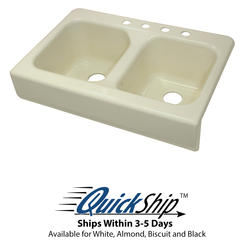 "Lyons 33-3/4"" x 23"" x 10"" Apron Style Sink with 3-1/2"" Drain"