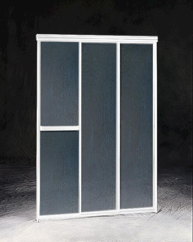 Maax triple plus 44 5 3 panel sliding shower door at for Non sliding patio doors