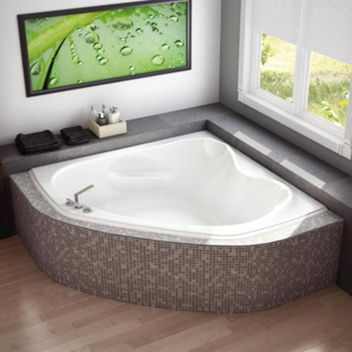maax murmur 60 x 60 corner soaker bathtub at menards