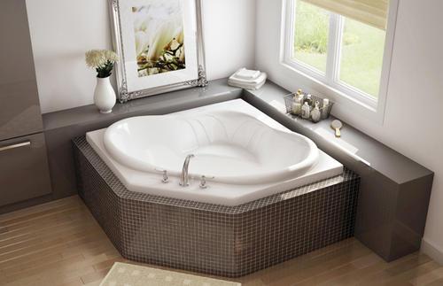 maax nancy 54 x 54 corner soaker bathtub at menards