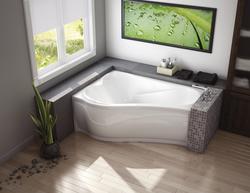 """Maax® Murmur 60"""" x 43"""" ASY Corner Soaker Bathtub - Right Drain"""