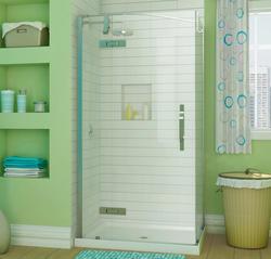"""Maax® 42"""" x 34"""" Azure Corner Shower Kit"""