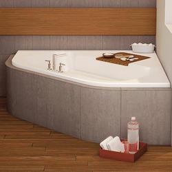 """Maax® New Town 60"""" x 60"""" Corner Soaker Tub - Center Drain"""