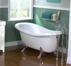 "Maax® Daydream 66-1/4"" x 31-1/4"" x 27-1/2"" White Acrylic Clawfoot Tub"