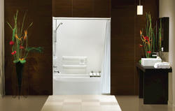 Maax® BFTS-60F Tub Shower ADA Compliant Package (Seat on LEFT)