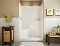 Maax® Evergreen 1-Piece Shower (LH Seat, Center Drain)