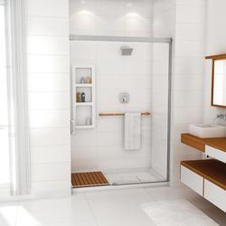 "Maax® Evidence 60"" x 34"" C - Corner Shower Base (Right Hand Drain)"