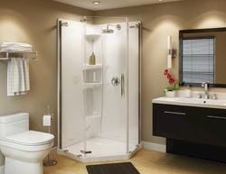 "Maax® Olympia 40"" Pentangle Shower Base and Door Kit"