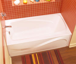 "Maax® 60"" Santorini Soaker Bathtub - Left Drain"