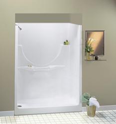 "Maax® 60"" Allegro II 1 Piece Shower (No Seat or Roofcap, LH Drain)"
