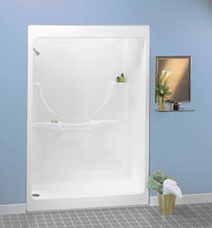 Maax® Allegro I Shower (1 Piece) with Roof Cap (No Seat, LH Drain)